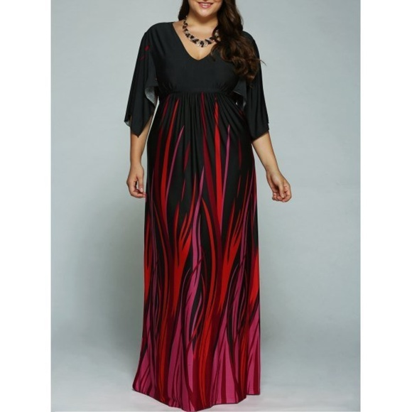 Empire Waist Maxi Plus Size Dress Boutique
